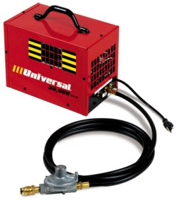 Universal Portable Forced Air Natural Gas and Propane Heaters: 30-FAS