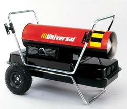 Universal Portable Forced Air Kerosene Heaters: K350-FAT
